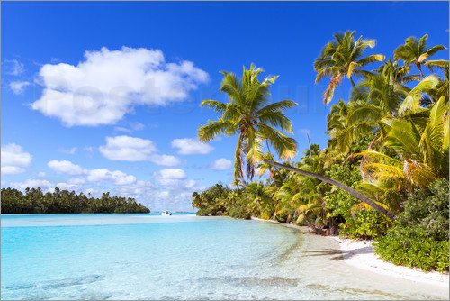 Poster Beautiful of One Foot Island, Cook Islands