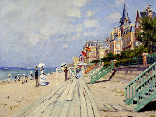 Poster the beach at trouville