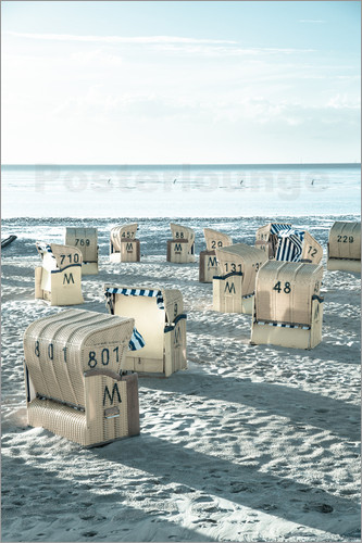 gn fotografie - beach chairs at the beach in Duhnen (North sea/Germany)