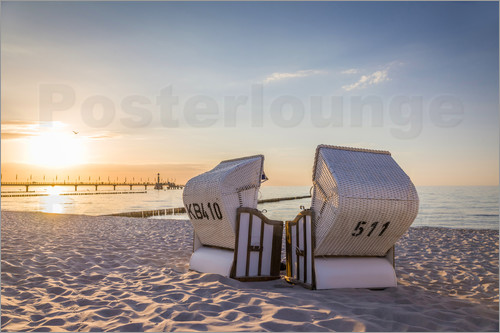 Christian Müringer - Idyllic beach chairs at the Baltic Sea