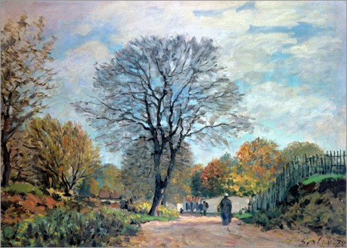 Alfred Sisley - A Road in Seine-et-Marne