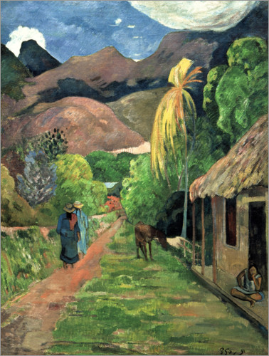 Paul Gauguin - Road into the mountains