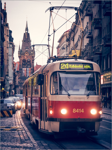 Poster Tramway in Prague