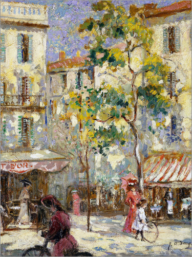 Joseph Alfred Terry - Street scene in Paris