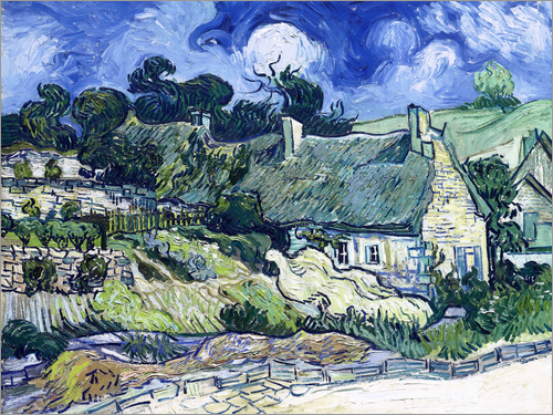 Poster Thatched cottages at Cordeville