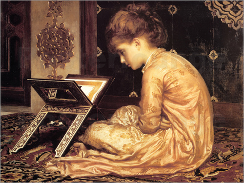Frederic Leighton - Study at a Reading Desk