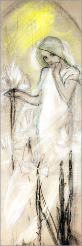 Alfons Mucha - Study for Lily