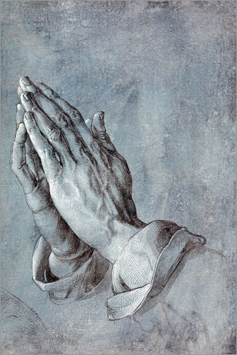 Albrecht Dürer - Study of the apostle's hands