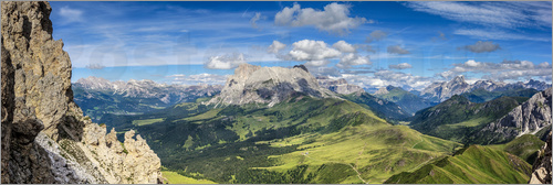 Poster The Dolomites in South Tyrol, panoramic view