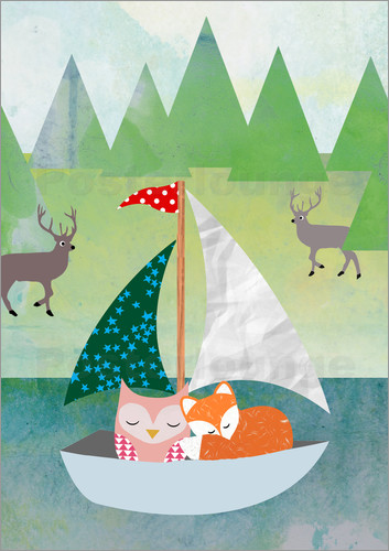 GreenNest - Cute Owl and Fox Boat