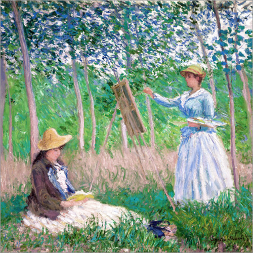 Claude Monet - Suzanne and Blanche Hochede