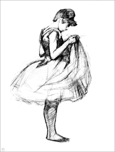 Henri de Toulouse-Lautrec - Dancer in skirt