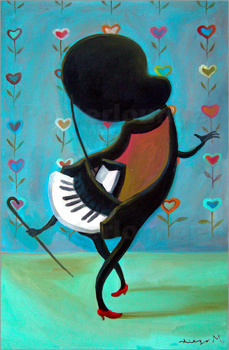 Diego manuel rodriguez dancing piano poster posterlounge for Piano dance music 90 s