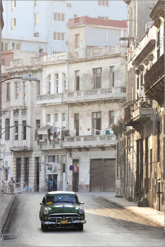 Poster Taxi driving in Havana