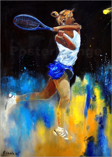 Poster tennis player