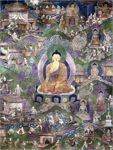 Tibetan School - Thangka of the Buddha