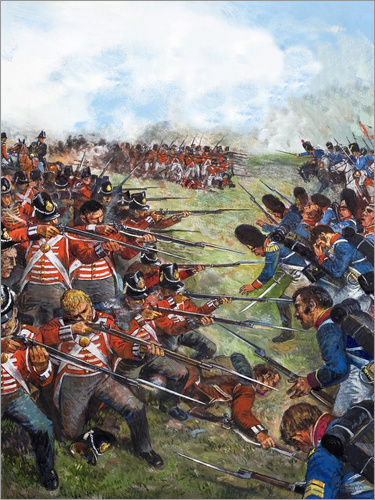 Clive Uptton - The Battle of Waterloo, 1815