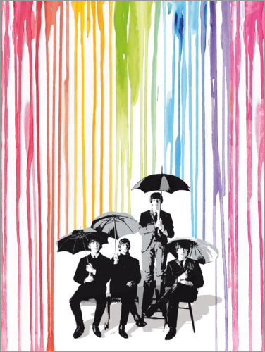 Poster The beatles pop style art