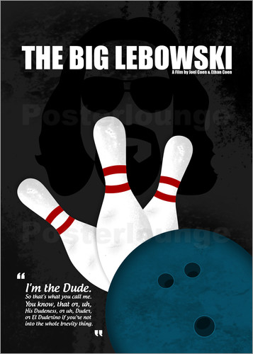 posters affiches de the big lebowski minimal movie film cult alternative posterlounge. Black Bedroom Furniture Sets. Home Design Ideas