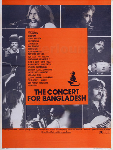 Poster THE CONCERT FOR BANGLADESH
