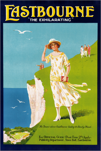 English School - 'The Exhilarating', poster advertising Eastbourne