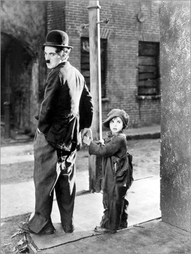 Poster THE KID, Charles Chaplin, Jackie Coogan, 1921
