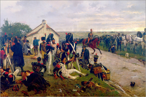 Ernest Crofts - The Morning of The Battle of Waterloo: the French Await Napoleon's Orders, 1876