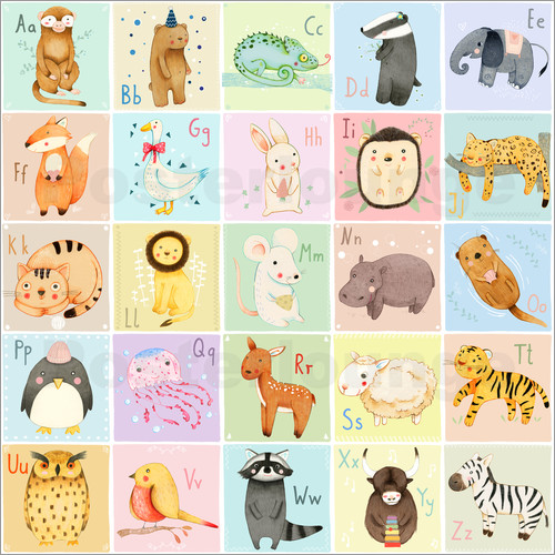 Judith Loske Animal Alphabet German Poster Posterlounge