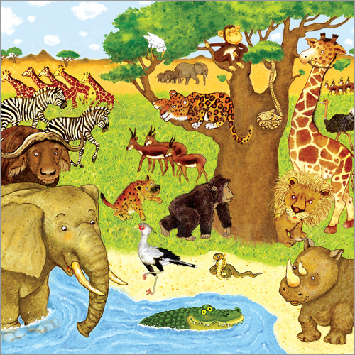 Poster Animals in Africa