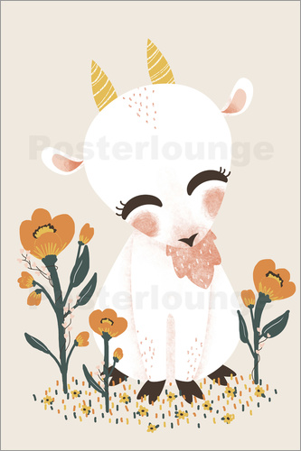 Poster Animal friends - The goat