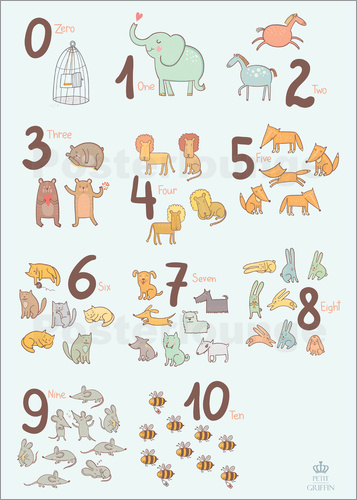 Petit Griffin - Animal numbers for the nursery