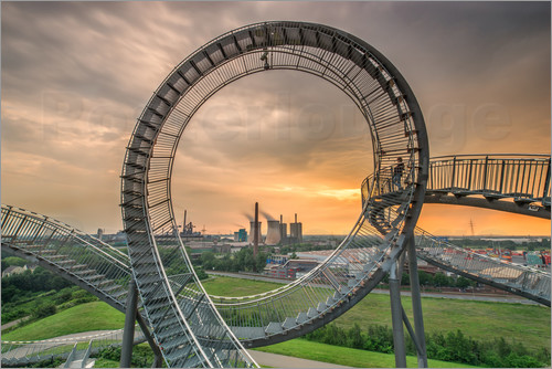 Poster Tiger & Turtle Magic Mountain Duisburg