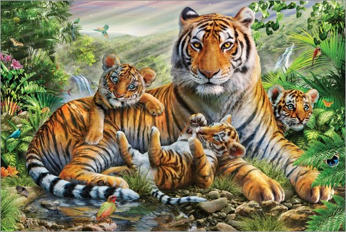 Poster Tiger and Cubs