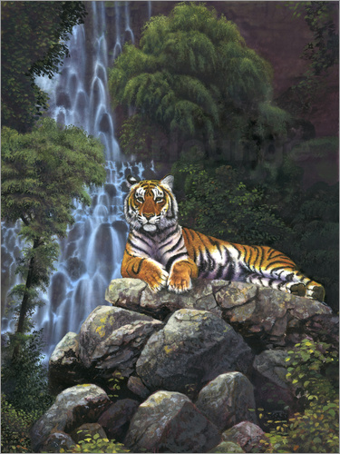 Poster Tiger waterfall