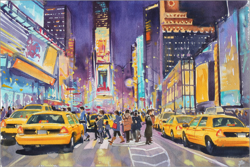 Paul Simmons - Times Square at night