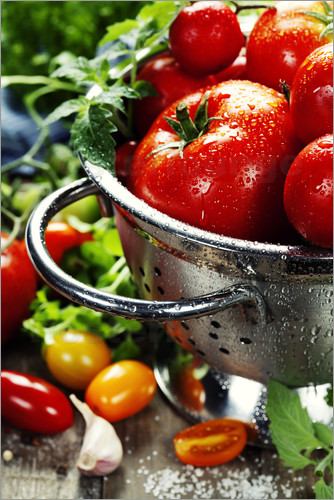 Tomatoes in the sieve