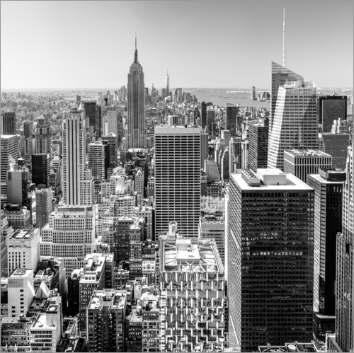 sascha kilmer top of the rock new york city monochrome poster posterlounge. Black Bedroom Furniture Sets. Home Design Ideas