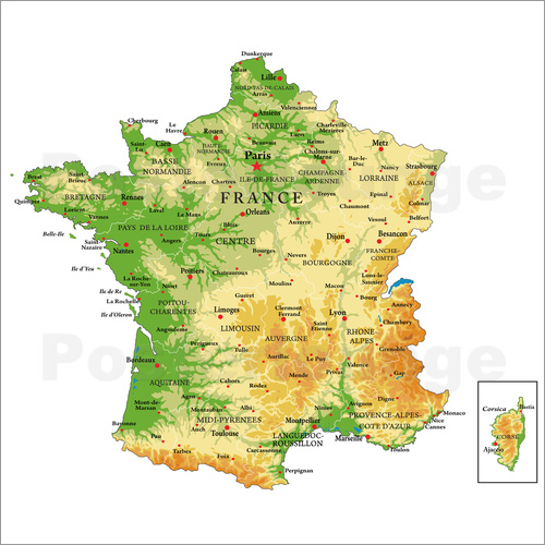 Topography France