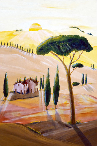 Christine Huwer - Tuscany in the morning