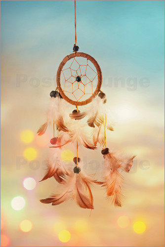 Póster Dream catcher and abstract bokeh background