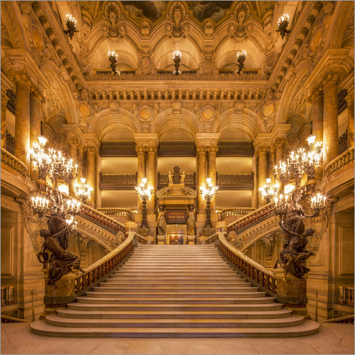 Jan christopher becke staircase of the opera garnier in for Salon 3d paris