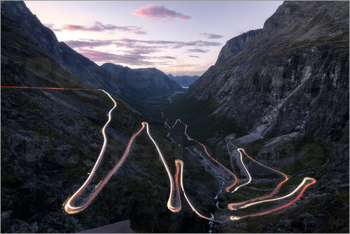 Poster Trollstigen Pass Road Norway