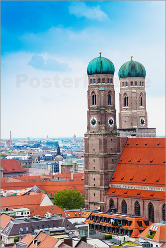 Poster Towers of Frauenkirche in Munich