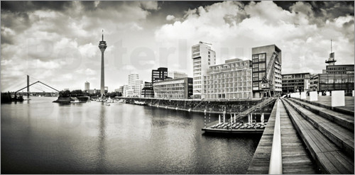 Poster Typical Duesseldorf | 01 (b/w)