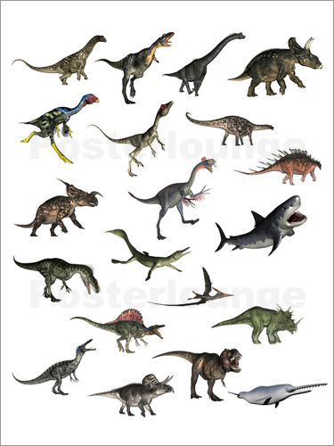 Poster Overview dinosaurs