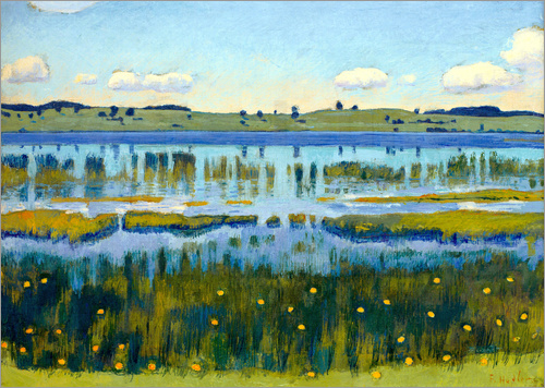 Ferdinand Hodler - Shore of Äschisee Lake