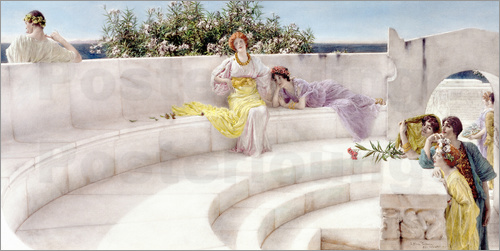 Lawrence Alma-Tadema - Under the Roof of Blue Ionian Weather