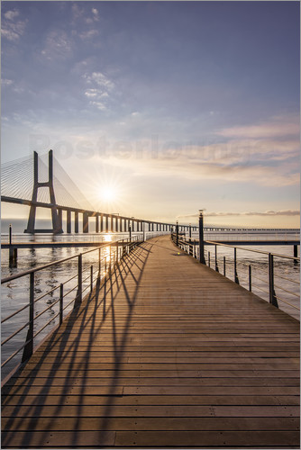 Poster Vasco da Gama Bridge Lisbon