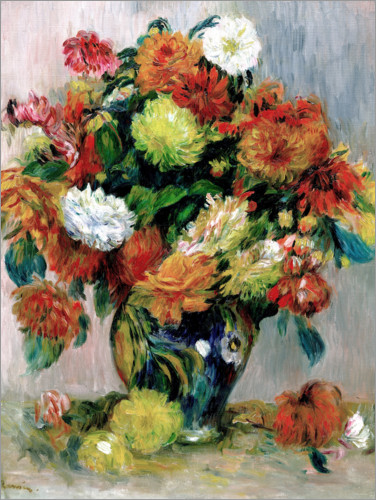 Poster Vase with Flowers