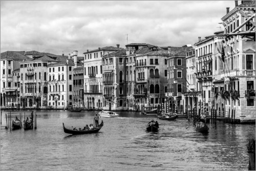 Poster Venice black and white
